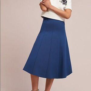 Anthropologie Maeve Blue Pointe Skirt